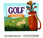 golf. cartoon vector poster   Shutterstock .eps vector #419222008
