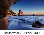 Cathedral Cove At Sunrise ...