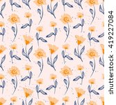 seamless pattern with hand... | Shutterstock .eps vector #419227084