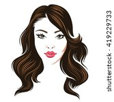 head of a young beauty woman... | Shutterstock .eps vector #419229733