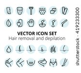 thin lines web icon set   ... | Shutterstock .eps vector #419233300