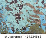 remains of paint on old wood | Shutterstock . vector #419234563