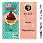 cupcakes  bakery menu design...   Shutterstock .eps vector #419239699