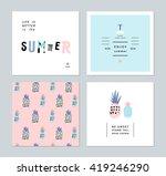 set of creative trendy art... | Shutterstock .eps vector #419246290
