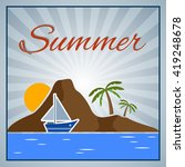 summer background with palm... | Shutterstock .eps vector #419248678
