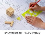 architects workplace  ... | Shutterstock . vector #419249839