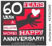 60 years happy anniversary ... | Shutterstock .eps vector #419262040