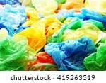 a lot of colorful plastic bags | Shutterstock . vector #419263519