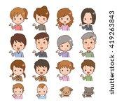 people pose   Shutterstock .eps vector #419263843