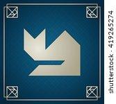 tangram cat sitting....   Shutterstock .eps vector #419265274