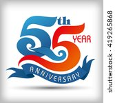 55th year anniversary design... | Shutterstock .eps vector #419265868