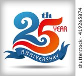 25th year anniversary design... | Shutterstock .eps vector #419265874