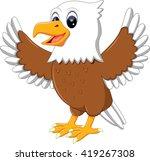 illustration of cute eagle...