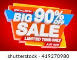 big sale limited time only... | Shutterstock . vector #419270980