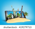 concept of travel landmarks... | Shutterstock . vector #419279713