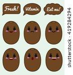 kiwi fruit character | Shutterstock .eps vector #419284294