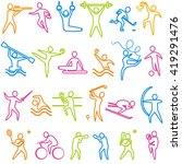set of sport and athletics... | Shutterstock . vector #419291476