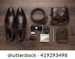 men's accessories in order on... | Shutterstock . vector #419293498