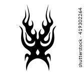 flame tattoo tribal vector... | Shutterstock .eps vector #419302264