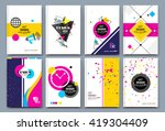 abstract composition. font... | Shutterstock .eps vector #419304409