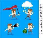 cute set   set of businessman....   Shutterstock .eps vector #419307478