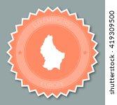 luxembourg badge flat design....   Shutterstock .eps vector #419309500