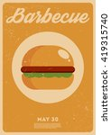 barbecue vintage poster | Shutterstock .eps vector #419315740