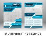 vector flyer template design.... | Shutterstock .eps vector #419318476