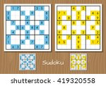 color sudoku vector set | Shutterstock .eps vector #419320558