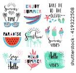 summer lettering scandinavian... | Shutterstock .eps vector #419322508