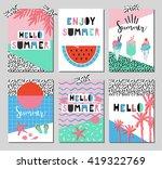 vector set of bright summer... | Shutterstock .eps vector #419322769