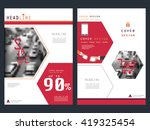 annual report brochure flyer... | Shutterstock .eps vector #419325454