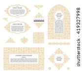 arabic vector set of frames and ... | Shutterstock .eps vector #419327998