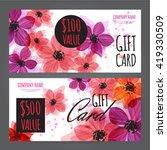gift voucher template with... | Shutterstock .eps vector #419330509