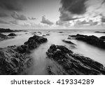 beautiful long exposure shot of ... | Shutterstock . vector #419334289