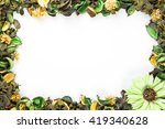 green potpourri border with... | Shutterstock . vector #419340628