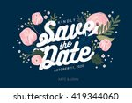 save the date template vector... | Shutterstock .eps vector #419344060