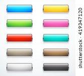 set of rectangle buttons | Shutterstock .eps vector #419347120