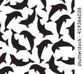 raster copy. seamless pattern... | Shutterstock . vector #419366038