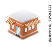 vector illustration of orange...   Shutterstock .eps vector #419369923