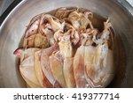 raw squid | Shutterstock . vector #419377714