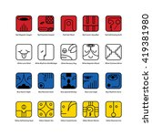 mayan calendar symbol. solar... | Shutterstock .eps vector #419381980