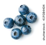 Tasty Blueberries Isolated On...