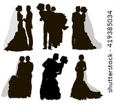 vector   isolated  silhouette   ... | Shutterstock .eps vector #419385034