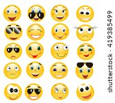 vector   isolated  emoticon | Shutterstock .eps vector #419385499