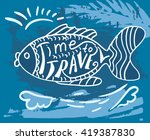 grunge card with decorative... | Shutterstock .eps vector #419387830