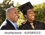 proud african american father... | Shutterstock . vector #419389213