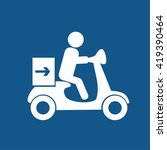 delivery moped icon | Shutterstock .eps vector #419390464