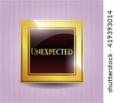unexpected gold emblem or badge | Shutterstock .eps vector #419393014