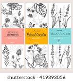 vector vintage template label... | Shutterstock .eps vector #419393056